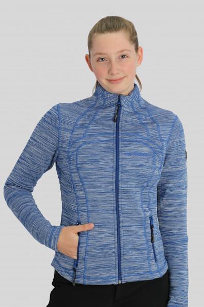 """Sweatshirt """"METTA"""", blau meliert"""