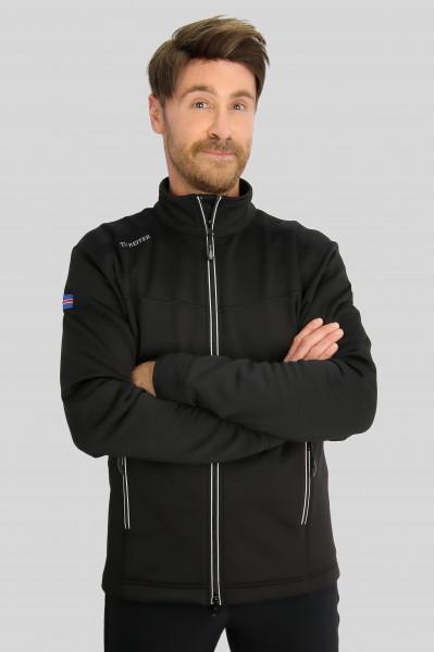 """Sweatshirt """"STRAUMUR"""", schwarz/silber"""