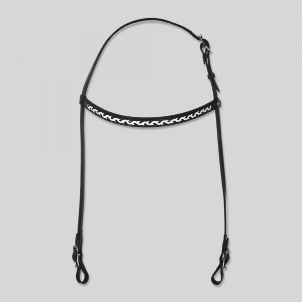 "Headstall ""INDIVIDUELLE"", black/white"