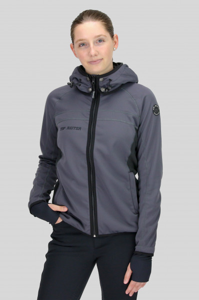 "Jacket ""PERLA"" with hood, anthracite"
