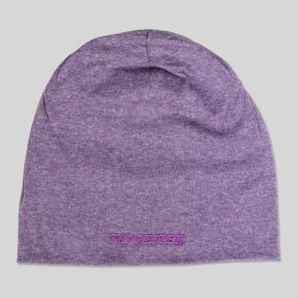 """Beanie """"TOP REITER"""", purple"""