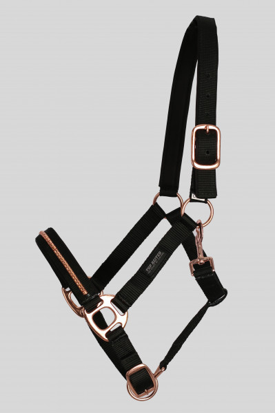 "Halter-Set ""SKRAUT"" with rope, black"