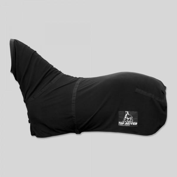 Fleecedecke mit Halsteil, schwarz