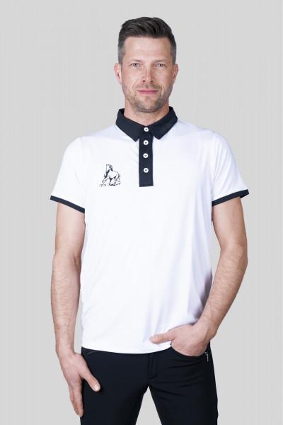 """T-Shirt """"COMPETITION"""", Herren, weiß/schwarz"""